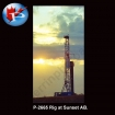 P-2665 Rig at Sunset